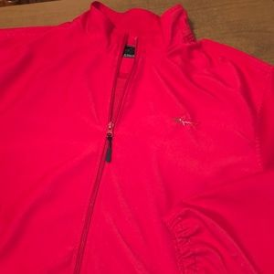 GREG NORMAN Red Full Zip Lined Golf Jacket Size XL